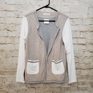 Trouble at the Mill Anthro Cotton Blend Cardigan M